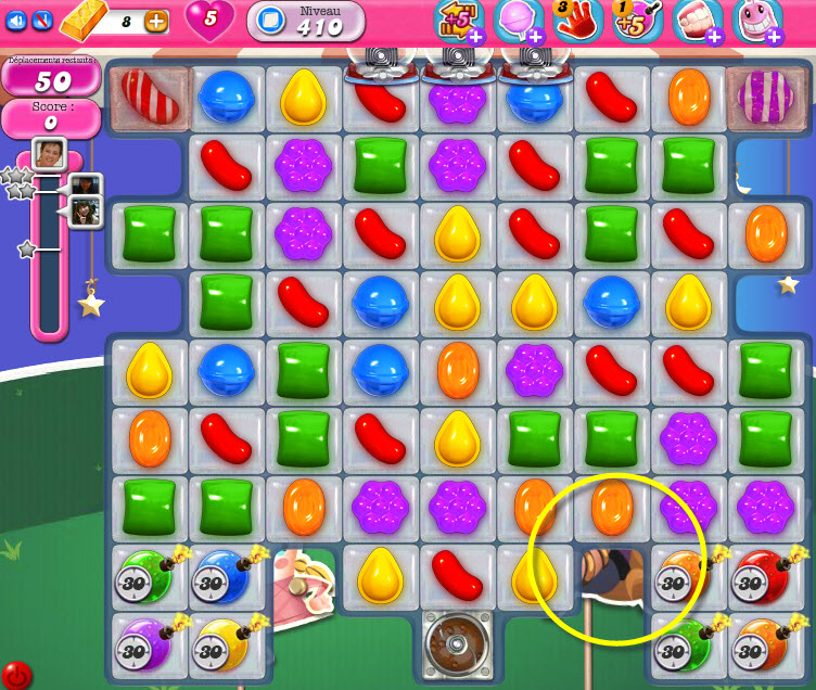 Candy Crush Saga niveau 410 - PC