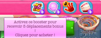 Candy Crush Saga - Booster 5 Deplacements