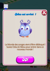 Candy Crush Saga - Odus le hibou