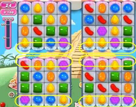 Candy Crush Saga niveau 323 - avant sur Facebook