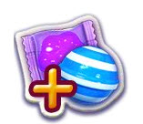 Booster Candy Crush - Raye + enveloppe - Striped & wrapped