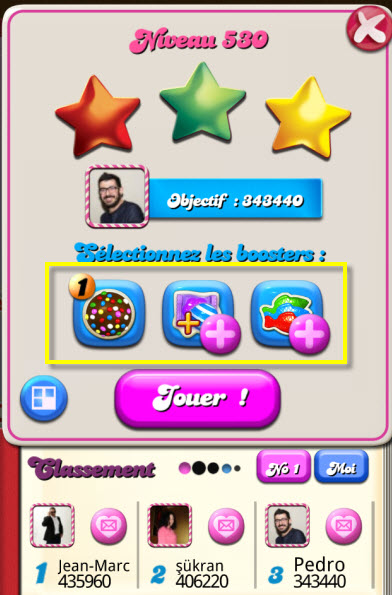 Candy Crush Saga - Activer booster