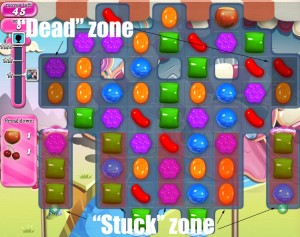 Candy Crush Saga - niveau 95 - zone morte