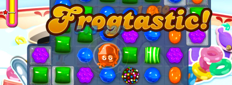 Grenouille Candy Crush Frogtastic