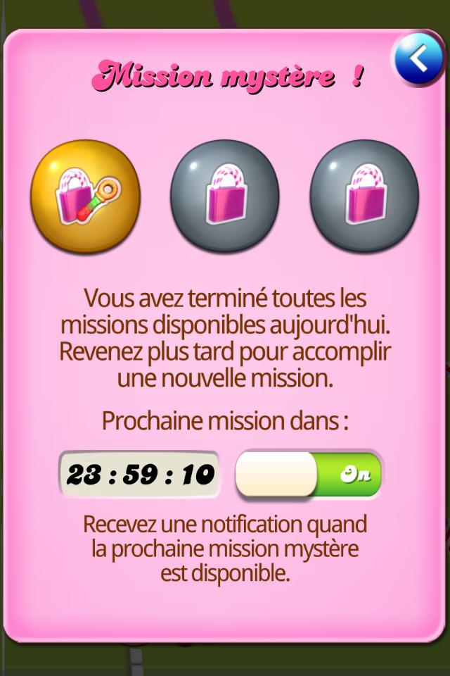 Notification aux missions mystères activée