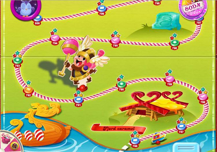 Candy Crush Saga - Fjord caramel - carte
