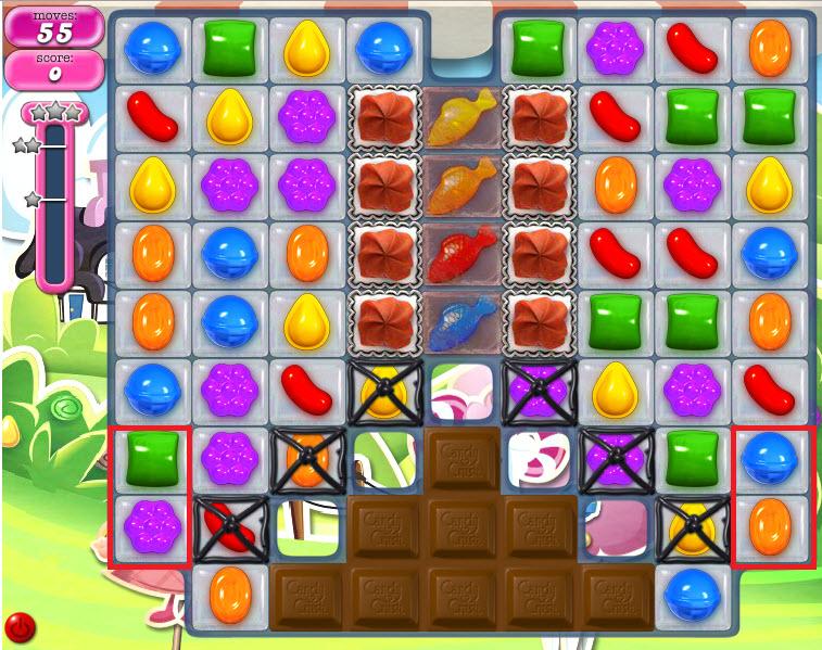 Candy Crush Saga niveau 461- emplacement stratégique