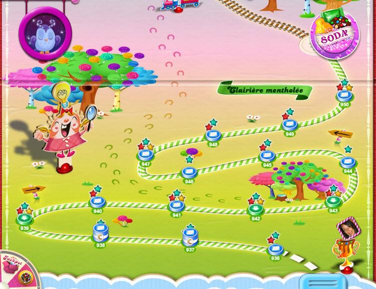 Map de l'épisode 64 de Candy Crush Saga