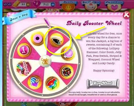Booster casquette dan Candy Crush Saga