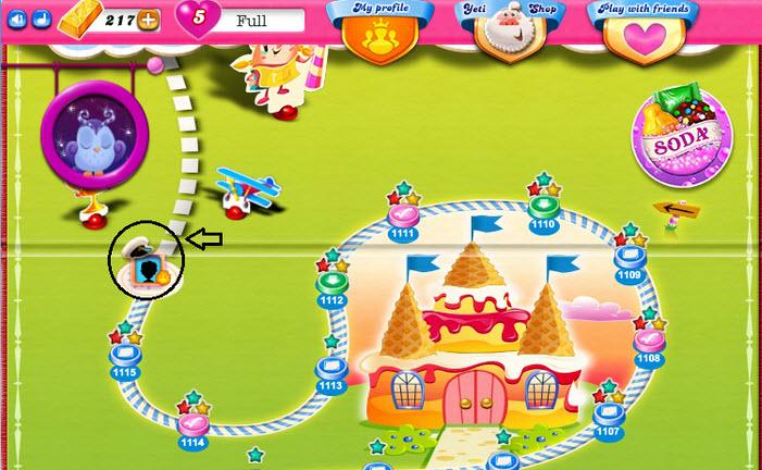 Casquette Candy Crush sur la map