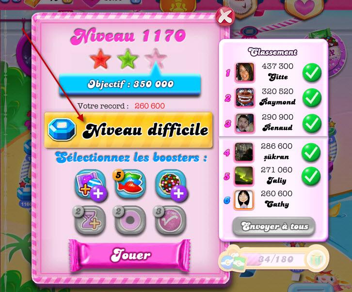 Candy Crush indique les niveaux difficiles - 3