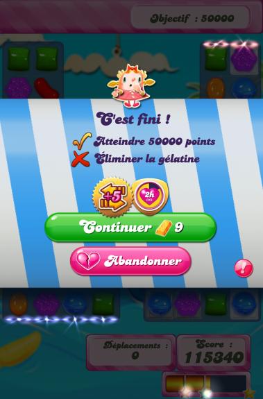 Le nouveau graphisme Candy Crush Saga 3