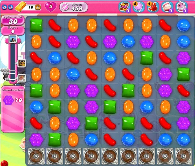 Candy Crush Saga niveau 459 sur PC