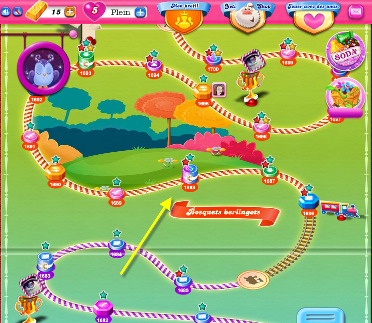 Candy Crush Monde Bosquets Berlingots