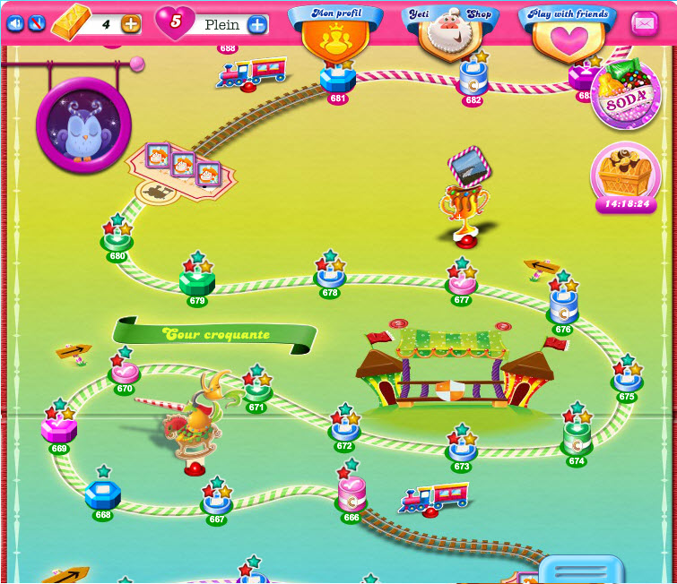 Candy Crush Saga niveau 679 - Cour Croquante