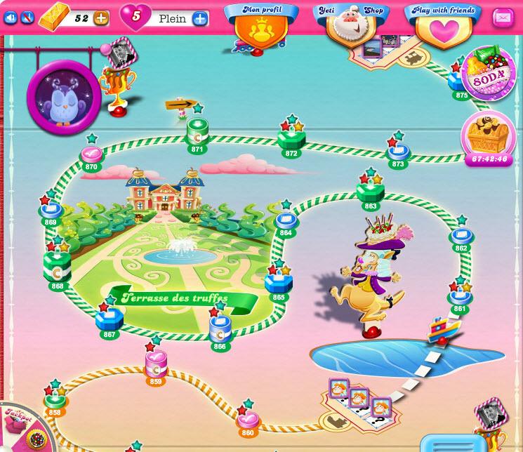 Candy Crush Saga - niveau 865 de Terrasse des Truffes