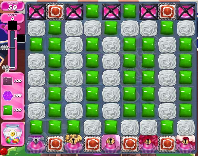 Candy Crush Saga niveau 1476 avant