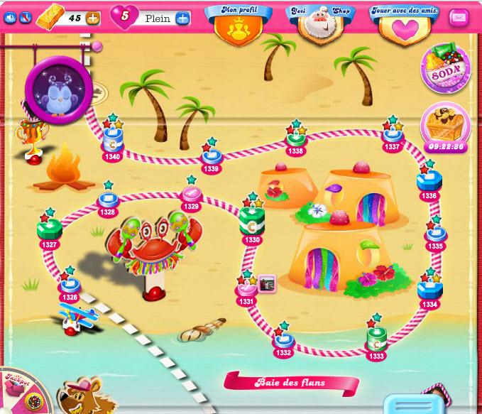 Baie des Flans - Candy Crush Saga niveau 1334
