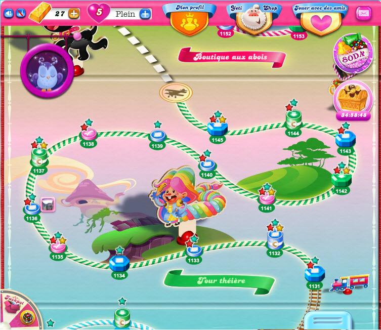 Monde Tour Théière de Candy Crush Saga