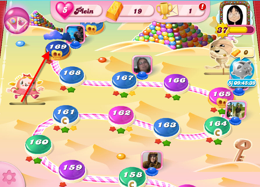 Candy Crush niveau 169 - Pyramide Pastille