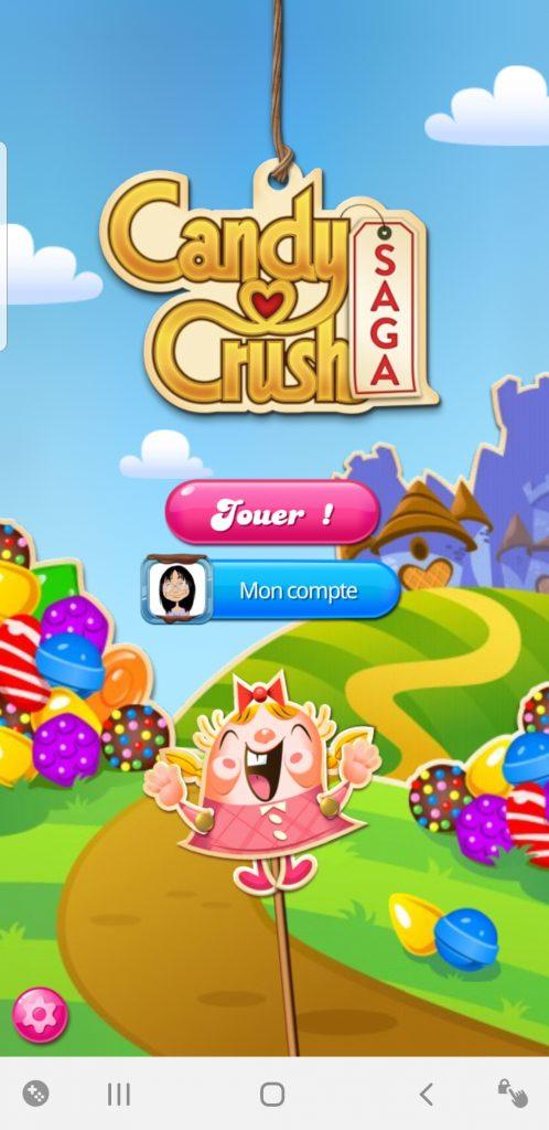 Mon Compte sur Candy Crush Saga