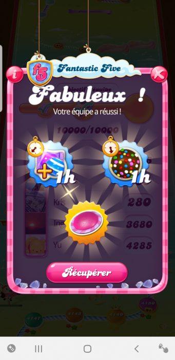 Fantastic Five Candy Crush récompense 3