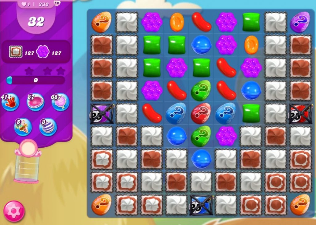candy crush saga niveau 232