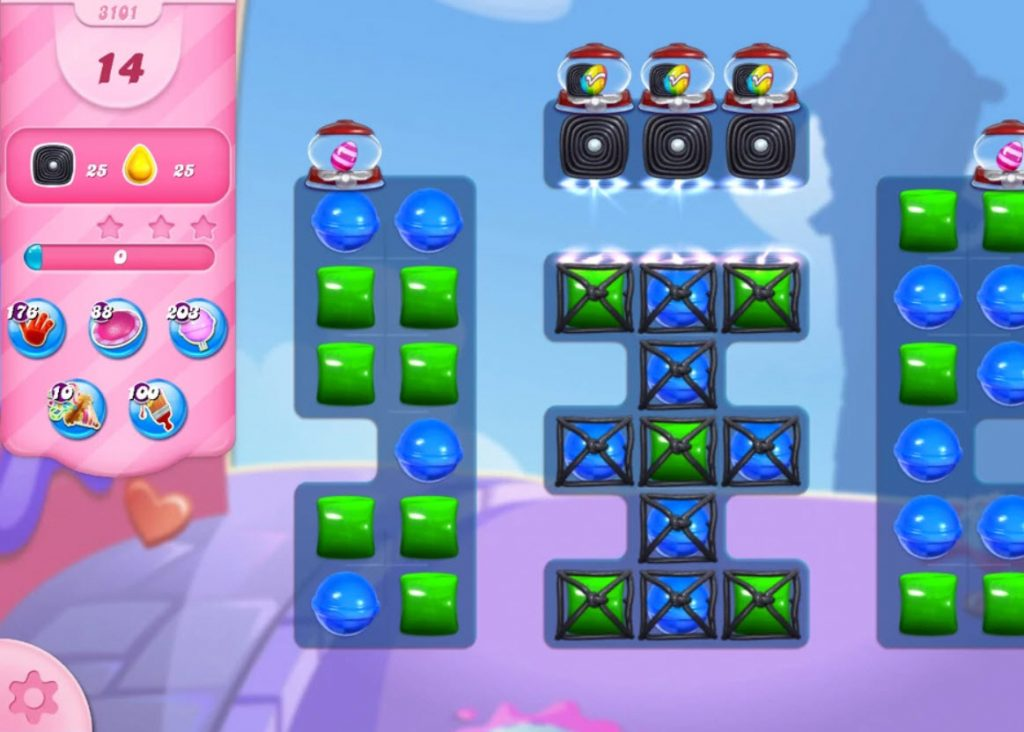 Candy Crush Saga niveau 3101