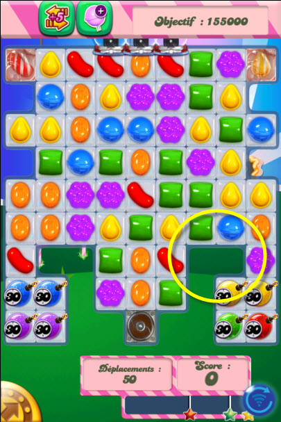 Candy Crush Saga niveau 410 - iphone