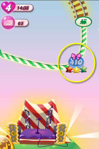 Candy Crush Saga - noeud rose