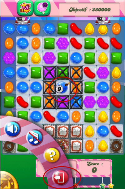 candy crush saga niveau 399 - avant