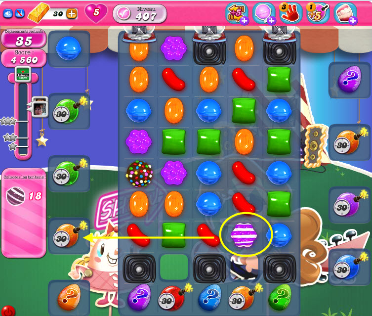 candy crush saga niveau 407