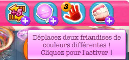 Candy Crush Saga - Booster Deplacer 2 couleurs differentes