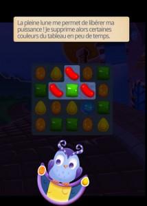 Candy Crush Saga - Le Monde des Songes - pouvoir Odus