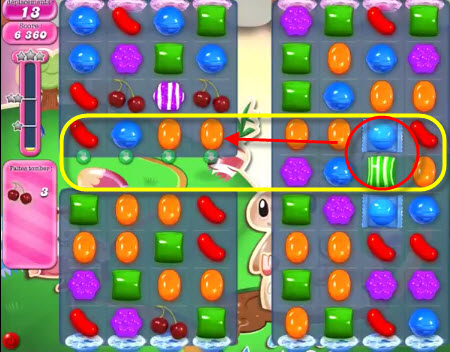 Candy Crush Saga - niveau 76 bis