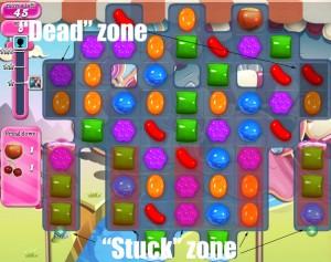 Candy Crush Saga - niveau 95 - zone morte