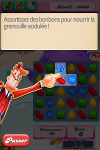 Grenouille Candy Crush étape 1