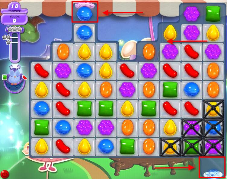 Candy Crush Hibou niveau 68