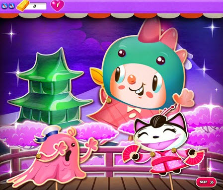Kiffi en Kaiju - Candy Crush Saga
