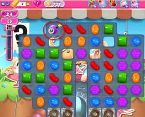 Candy Crush Saga - niveau 735 - bombe à retardement