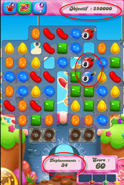 Candy Crush Saga - niveau 735 - version smartphone
