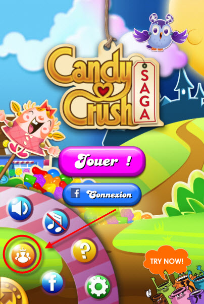 Candy Crush Saga Royaume Kingdom connexion
