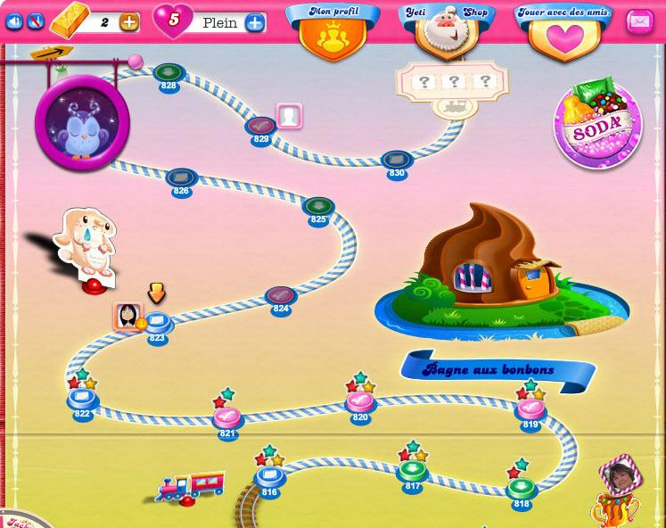 Candy Crush - Bagne aux bonbons - Niveaux 816 à 830