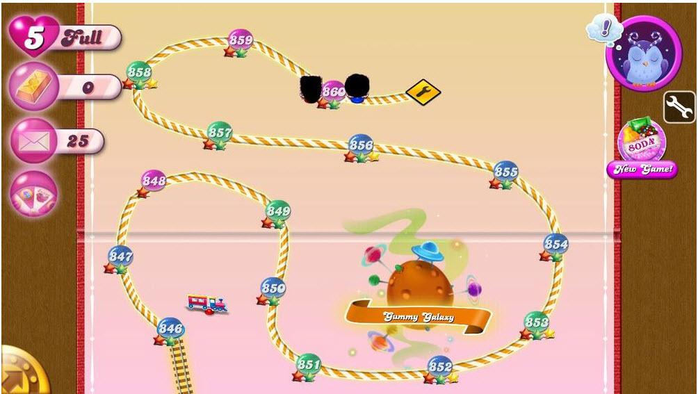 Candy Crush Saga - Carte Gummy Galaxy