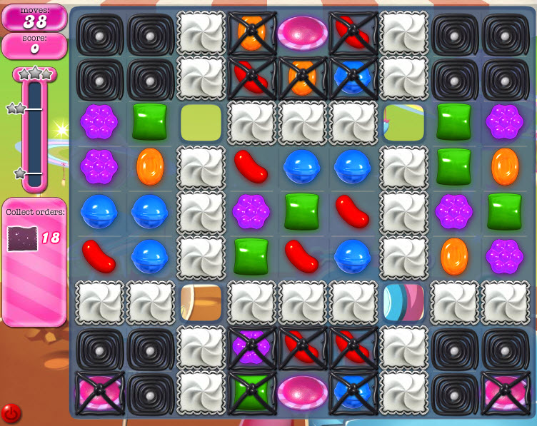 Candy Crush Saga niveau 848