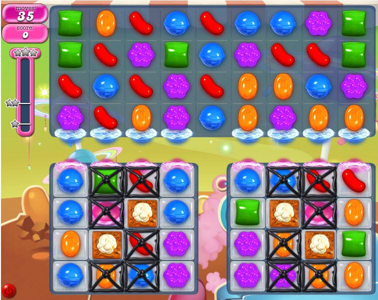 Candy Crush Saga niveau 854