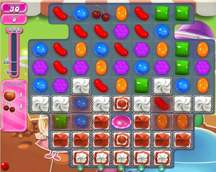 Candy Crush Saga niveau 857