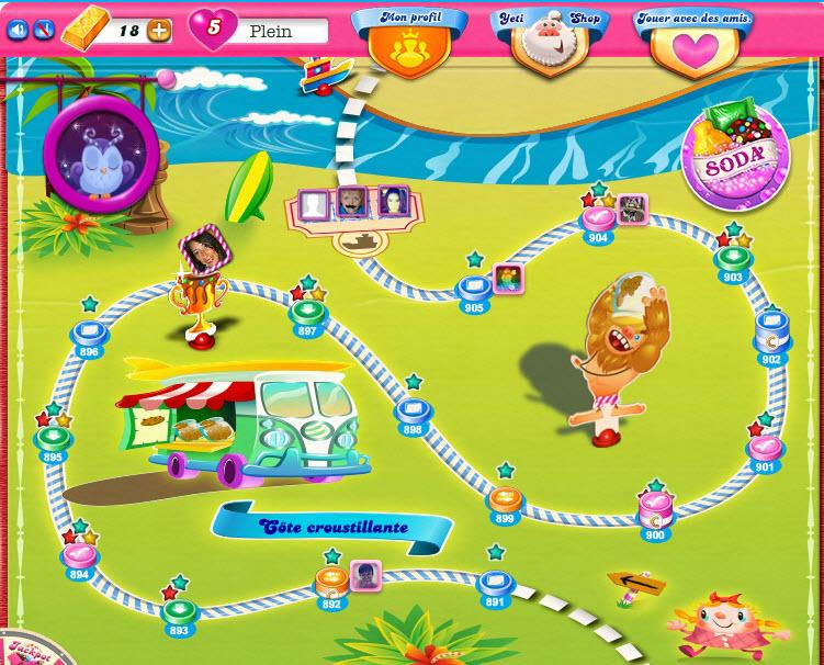 Candy Crush carte épisode 61