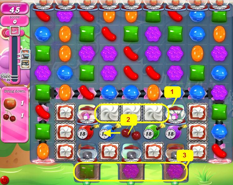 Stratégie pour passer le niveau 963 de Candy Crush Saga