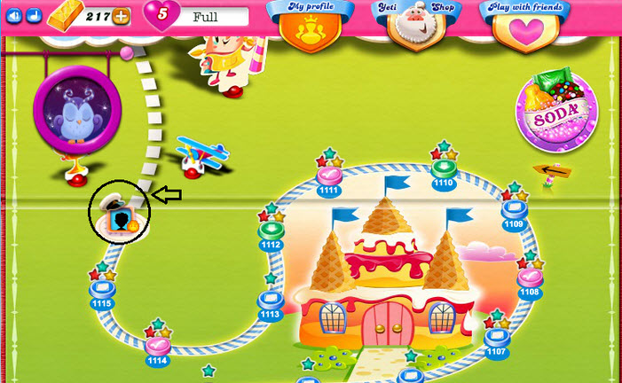 Casquette Candy Crush sur la map